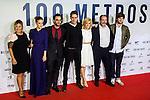 "Amaia montero, Dani Rovira, Marel Barrena, Alexandra jimenez, Karra Elejalde Lucas Vidal during the premier of the film ""100 METROS"" at Capitol Cinema in Madrid, Spain. November 02, 2016. (ALTERPHOTOS/Rodrigo Jimenez)"