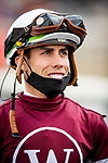 MAY 15, 2021: Irad Ortiz Jr. before the Preakness Stakes at Pimlico Racecourse in Baltimore, Maryland on May 15, 2021. EversEclipse Sportswire/CSM