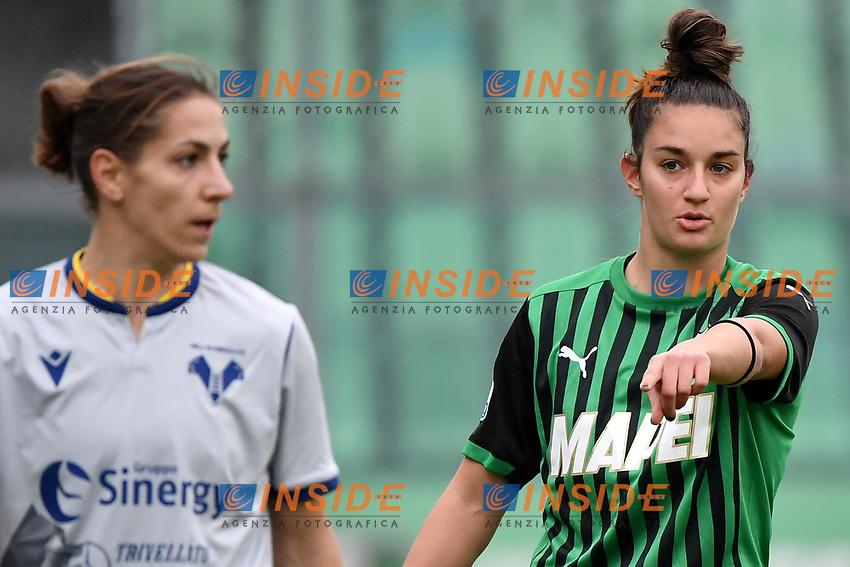 Martina Lenzini of Sassuolo reacts during the women Serie A football match between US Sassuolo and Hellas Verona at Enzo Ricci stadium in Sassuolo (Italy), November 15th, 2020. Photo Andrea Staccioli / Insidefoto