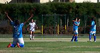 CHIA -COLOMBIA,19-10-2020:Gol Llaneros. Fortaleza CEIF y Llaneros  en partido por la fecha 2 de la Liga femeina BetPlay DIMAYOR I 2020 jugado en el estadio de Chia. /Fortaleza CEIF and Llaneros in match for the date 2 BetPlay DIMAYOR women´s  League I 2020 played at Chia stadium in Chia. Photo: VizzorImage/ Samuel Norato / Contribuidor
