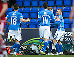 St Johnstone v Aberdeen…22.04.16  McDiarmid Park, Perth<br />David Wotherspoon celebrates his goal<br />Picture by Graeme Hart.<br />Copyright Perthshire Picture Agency<br />Tel: 01738 623350  Mobile: 07990 594431