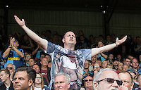 The Wycombe Supporters during the Sky Bet League 2 match between Leyton Orient and Wycombe Wanderers at the Matchroom Stadium, London, England on 19 September 2015. Photo by Andy Rowland.