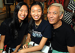 From left: Chloe Nguyen, Lauren Nguyen and Marc Nguyen at the M.D. Anderson Back-to-School Fashion Show at the Galleria Saturday Aug. 16, 2014.(Dave Rossman photo)