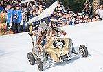 Team 偷阿罵的錢造飛車  in action during the Red Bull Soapbox Race 2017 Taipei at Multipurpose Gymnasium National Taiwan Sport University on 01 October 2017, in Taipei, Taiwan. Photo by Victor Fraile / Power Sport Images