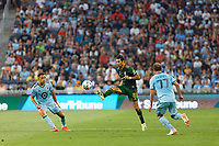 ST PAUL, MN - JULY 24: Diego Valeri #8 of the Portland Timbers during a game between Portland Timbers and Minnesota United FC at Allianz Field on July 24, 2021 in St Paul, Minnesota.