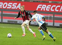 Milano 14-03-2021<br /> Stadio Giuseppe Meazza<br /> Serie A  Tim 2020/21<br /> Milan - Napoli<br /> Nella foto: Jens Peter Hauge                                     <br /> Antonio Saia