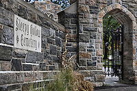 Gate to Sleepy Hollow Cemetery, Sleepy Hollow, New York, USA