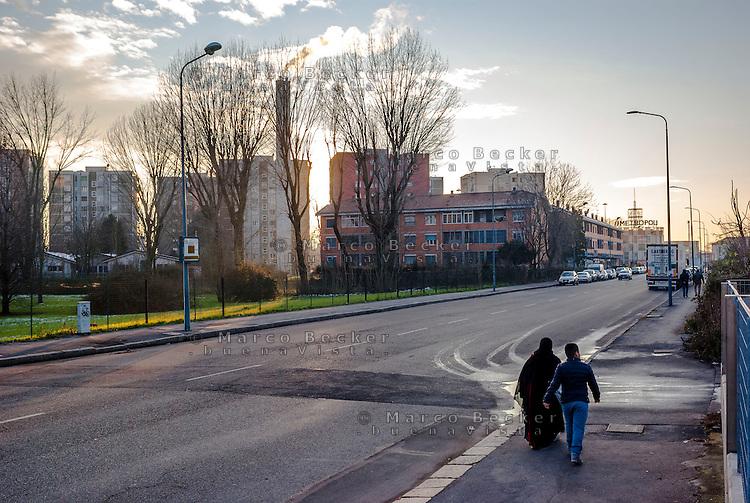 Milano, quartiere Bovisasca, periferia nord --- Milan, Bovisasca district, north periphery