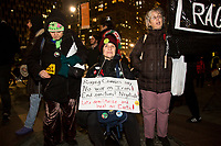 "NEW YORK, NY - January 9: Hundreds of people attend a demonstration called ""No War With Iran"" on January 9, 2020 in New York City. This Thursday a resolution of powers of war with the objective of limiting the military actions of President Donald Trumps against Iran, was admitted by the Chamber. (Photo by Pablo Monsalve / VIEWpress)"