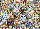 Randy, CUTE ANIMALS, LUSTIGE TIERE, ANIMALITOS DIVERTIDOS, halloween, paintings+++++,USRW359,#ac#, EVERYDAY ,dia de los muertos,skulls,