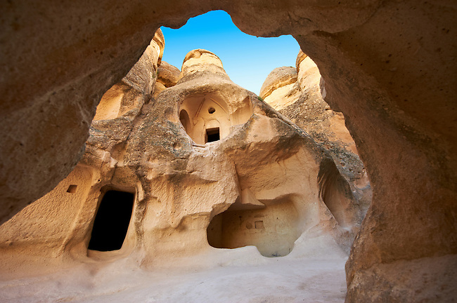 """Pictures & images of the fairy chimney cave churches of """"Pasaba Valley"""" near Goreme National Park, Cappadocia, Nevsehir, Turkey"""