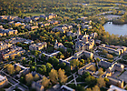 May 16, 2011; Campus Aerial shot with tilt-shift lens..Photo by Matt Cashore/University of Notre Dame