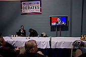 Manchester, New Hampshire<br /> January 5, 2008<br /> <br /> During a debate with first the Republicans and then the Democrats at Aselm College. <br /> <br /> The press room with thousands of journalists from around the world.
