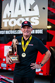 Doug Kalitta, top fuel, Mac Tools, celebration, victory, trophy