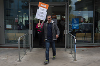 GMB Middlesex hospital cleaners & porters demo 21-9-17