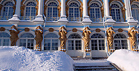 2A25H9M Exterior of Catherine Palace, a Rococo palace located in the town of Tsarskoye Selo.