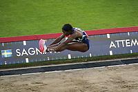 26th August 2021; Lausanne, Switzerland;  Khaddi Sagnia of Sweden during womens long jump at Diamond League athletics meeting at La Pontaise Olympic Stadium in Lausanne, Switzerland.