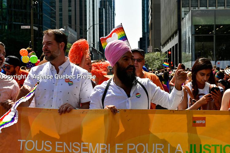 Defile de la fierte, aout 2017<br /> <br /> PHOTO : Agence Quebec Presse