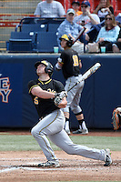 Dayton Dugas (25) of the Wichita State Shockers bats against the Cal State Fullerton Titans at Goodwin Field on March 13, 2016 in Fullerton, California. Cal State Fullerton defeated Wichita State, 7-1. (Larry Goren/Four Seam Images)