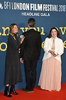 """Amy Nauiokas, Richard E Grant and Melissa McCarthy<br /> arriving for the London Film Festival screening of """"Can You Ever Forgive Me"""" at the Cineworld Leicester Square, London<br /> <br /> ©Ash Knotek  D3449  19/10/2018"""