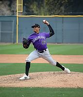 Helcris Olivarez - Colorado Rockies 2020 spring training (Bill Mitchell)