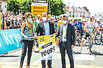 Emmanuel Denis Mayor of Tours ready to start Stage 6 of the 2021 Tour de France, running 160.6km from Tours to Chateauroux, France. 1st July 2021.  <br /> Picture: A.S.O./Charly Lopez | Cyclefile<br /> <br /> All photos usage must carry mandatory copyright credit (© Cyclefile | A.S.O./Charly Lopez)