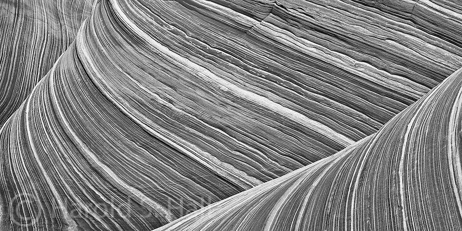 The Wave in Arizona is a beautiful area of wind eroded sandstone.  It is a six mile hike to  get to this spot that is limited to 20 hikers per day.