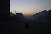 Kabul, Afghanistan<br /> November 19, 2001<br /> <br /> Dusk in what was once a residential part of Kabul left in ruins after from decades of war in Afghanistan between several warring fractions.