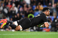 2nd October 2021, Cbus Super Stadium, Gold Coast, Queensland, Australia;   Ardie Savea dives in for a try. New Zealand All Blacks versus South Africa Springboks.The Rugby Championship. Rugby Union test match.