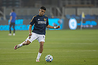 SAN JOSE, CA - SEPTEMBER 13: Joe Corona #15 of the L.A. Galaxy during warm ups during a game between Los Angeles Galaxy and San Jose Earthquakes at Earthquakes Stadium on September 13, 2020 in San Jose, California.