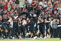 Stanford, CA - October 8, 2016: Dallas Lloyd Team during the Stanford vs Washington State football game at Stanford Stadium. The Cougars defeated the Cardinal 42-16.