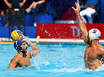 Ugo Crousillat in actionduring game between Montenegro against France LEN European Water Polo Championships, Barcelona 16.07.2018