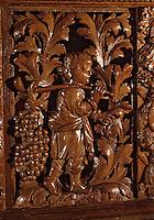 Europe/France/Poitou-Charentes/17/Charente-Maritime/Ile de Ré/Ars-en-Ré: L'église Saint Etienne - Détail d'une table de communion (XVIIème)