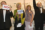 Cartoonist Dinner and award ceremony. A tie formal charity dinner The Mall Galleries London  2007  2000s. Adults playing party games.