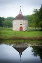 Dovecote, viewed across the Horse Pond, Parham, mid May.