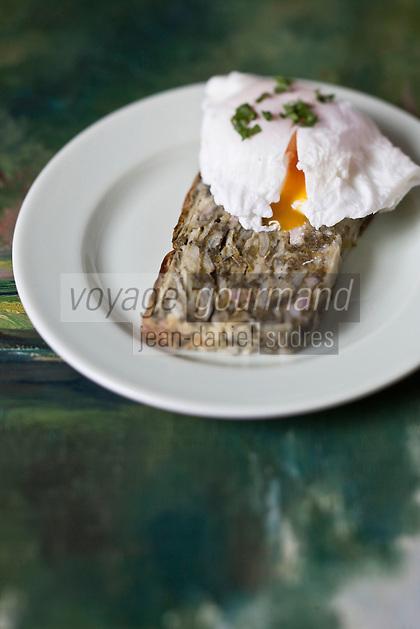 Europe/France/Poitou-Charentes/79/Deux-Sèvres/Marais Poitevin/Coulon:  Le farci poitevin recette de Jean-Paul Guenanten Restaurant: Le Central