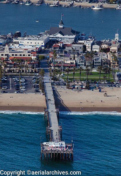 aerial photograph of Balboa Pier, Newport Beach, Orange County, California