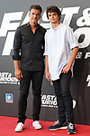 Orson Salazar and Orson Salazar Jr. during the photocall for the 'Fast & Furious 9' Madrid Premiere. June 17, 2021. (ALTERPHOTOS/Acero)