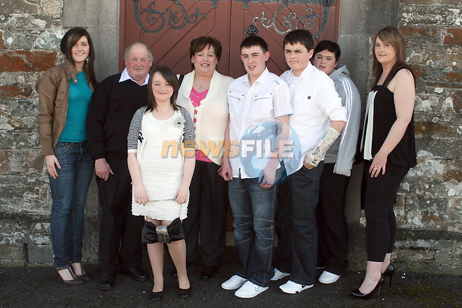 Aine Hoey with her family at the Confirmation in Clogherhead Church...Photo NEWSFILE/Jenny Matthews.(Photo credit should read Jenny Matthews/NEWSFILE)....This Picture has been sent you under the condtions enclosed by:.Newsfile Ltd..The Studio,.Millmount Abbey,.Drogheda,.Co Meath..Ireland..Tel: +353(0)41-9871240.Fax: +353(0)41-9871260.GSM: +353(0)86-2500958.email: pictures@newsfile.ie.www.newsfile.ie.FTP: 193.120.102.198.