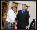 07/04/2009  Copyright Pic: James Stewart.File Name : 15_hippodrome_opening.COUNCILLOR ADRIAN MAHONEY WELCOMES CHIEF EXECUTIVE, MARY PITCAITHLY, AS SHE ARRIVES AT THE FIRST NIGHT OFFICIAL RE-OPENING OF THE HIPPODROME IN BO'NESS.....James Stewart Photography 19 Carronlea Drive, Falkirk. FK2 8DN      Vat Reg No. 607 6932 25.Telephone      : +44 (0)1324 570291 .Mobile              : +44 (0)7721 416997.E-mail  :  jim@jspa.co.uk.If you require further information then contact Jim Stewart on any of the numbers above.........