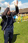 Lowestoft Town 2 Barrow 3, 25/04/2015. Crown Meadow, Conference North. Barrow make the six-hour trip to Suffolk needing a win to secure the title. A guard of honour welcomes retiring Lowestoft Town legend Micky Chapman onto the pitch for his last ever match in charge. Photo by Simon Gill.