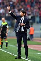 Simone Inzaghi, Lazio's coach.<br /> Roma 4-12-2016  Stadio Olimpico<br /> Campionato Serie A, Derby<br /> Lazio -  AS roma<br /> Foto Antonietta Baldassarre / Insidefoto