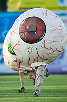 The popular racing eyeballs between innings at Ernie Shore Field in Winston-Salem, NC, Sunday, May 6, 2007