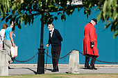 Chelsea Pensioners at the Royal Hospital, founded in 1682 by King Charles II and intended for the 'succour and relief of veterans broken by age and war'.