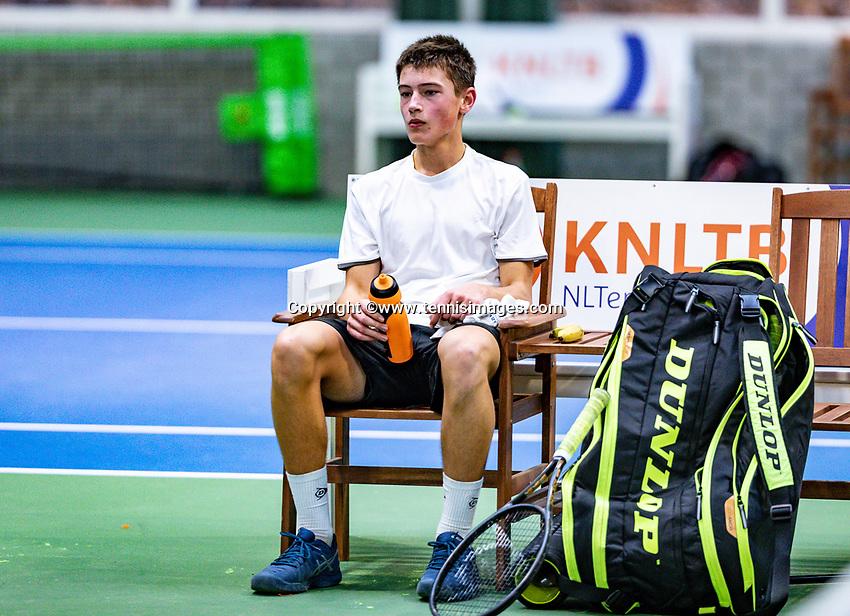 Hilversum, Netherlands, December 2, 2018, Winter Youth Circuit Masters,  Freek van Donselaar (NED)<br /> Photo: Tennisimages/Henk Koster
