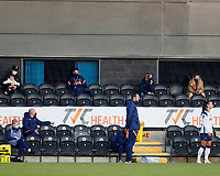 Alex Morgan of Tottenham prepares to make her debut watched by her family during Tottenham Hotspur Women vs Reading FC Women, Barclays FA Women's Super League Football at the Hive Stadium on 7th November 2020