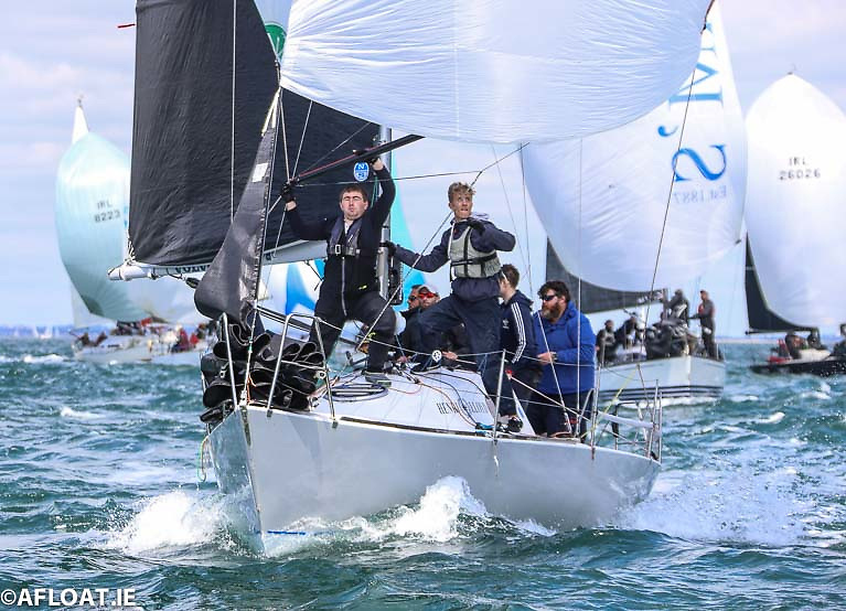 Ronan Downing's Half Tonner Miss Whiplash from Royal Cork Yacht Club is heading for the Fastnet Rock in the KYC/SCORA race on Saturday