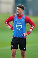 Ethan Ampadu of Wales during the Wales Training Session at The Vale Resort in Cardiff, Wales, UK. Monday 5 October 2020