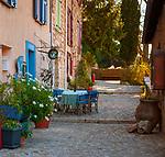 Frankreich, Provence-Alpes-Côte d'Azur, Sainte-Agnès (Alpes-Maritimes): Bergdorf (Village Perché) an den Auslaeufern der franzoesischen Seealpen, es bezeichnet sich als Village du littoral le plus haut d'Europe - als hoechstgelegenes Kuestendorf Europas und liegt oberhalb von Menton, es bekam die Auszeichnung 'eines der schoensten Doerfer Frankreichs'   France, Provence-Alpes-Côte d'Azur, Sainte-Agnès (Alpes-Maritimes): mountain village (Village Perché) above Menton in the French Maritime Alps, labelled as one of the most beautiful villages of France
