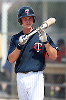 Minnesota Twins minor league outfielder Max Kepler (7) during a game vs. the Boston Red Sox in an Instructional League game at Lee County Sports Complex in Fort Myers, Florida;  October 2, 2010.  Kepler-Rozycki signed to a $800,000 bonus with the Twins, a record for an amateur outside the U.S. and Latin America.  Photo By Mike Janes/Four Seam Images